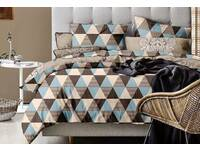 Queen size 3pcs Rio Chevron  quilt cover set