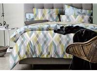 King size quilt cover set / doona cover set with pillowcase ZigZag  by Ricoco
