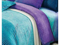 King size ZEPHYR fitted sheet in aqua turquoise purple
