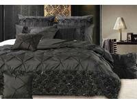 Queen / King size Samania Black Quilt Cover / duvet cover Set