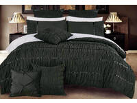 Palazzolo Black King / Queen Duvet Cover Set with optional European pillowcase