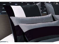 Amore Black Grey White European Pillowcases (pair)