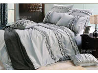 Jurie Silver Queen Size Quilt Cover Set
