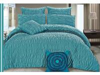 Aniene Aqua Quilt Cover Set in King or Queen size