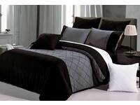 Super King size Arista Black Quilt Cover Set