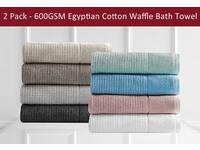 600GSM Egyptian Cotton Cambridge Bath Sheet / Towels (2pcs Value Pack)