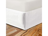 King White Ezy Quilted Valance