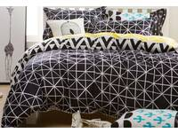 Ricoco Alford black quilt cover set / doona cover set
