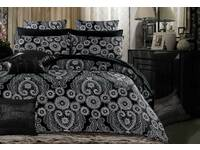 king size black Batik  Quilt Cover / doona Cover set with pillowcases