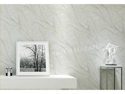 Modern Marble stone Sliver Grey wallpaper
