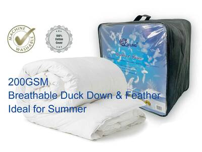 Breathable Duck Feather and Down Quilt Machine Washable