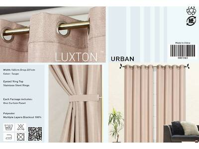 Taupe color Eyelet Curtain