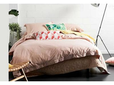 Last One - Linen House Elka Blush quilt cover set (King Size)