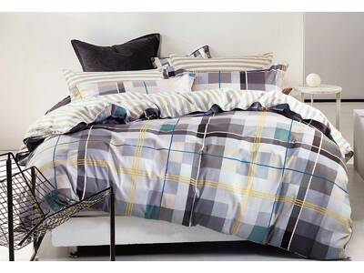 Lucas quilt cover set / doona cover set 100% cotton quilt cover sets in king / Queen