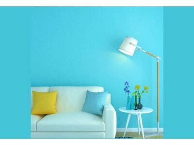 Textured plain BLUE wallpaper boys girls room