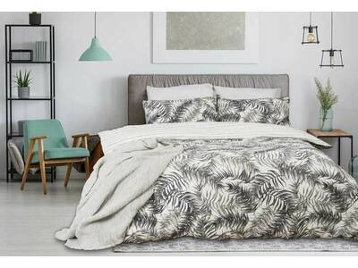 Ferntree Rainforest Design Cotton Grey Quilt Cover Set