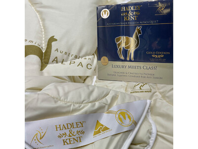 Australian 100% White Alpaca Filling Quilt 350GSM by Hadley & Kent