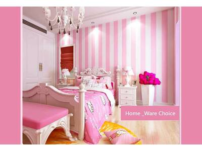baby Pink Striped wallpaper - ideal Nursery and Girls room wallpaper